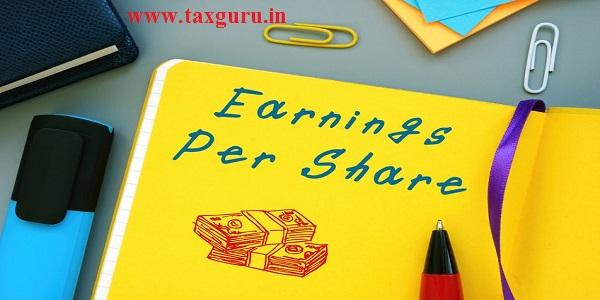 Business concept meaning Earnings Per Share with sign on the page.