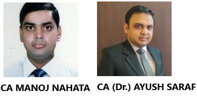 CA Manoj Nahata and CA (Dr.) Ayush Saraf