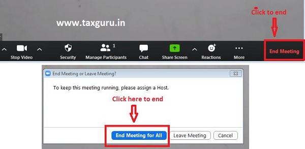 End Meeting