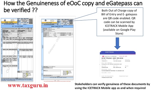 How the Genuineness of eOoC copy and eGatepass can be verified