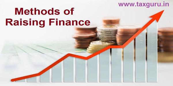 Methods of Raising Finance