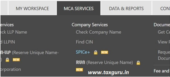 Name reservation for new companies