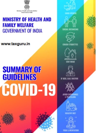 Summary of Guidelines- COVID 19