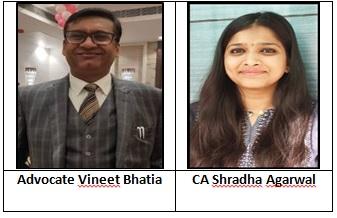 Advocate Vineet Bhatia and CA Shradha Agarwal