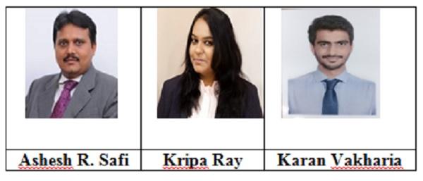 Ashesh R. Safi, Kripa Ray and Karan Vakharia