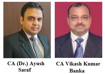 CA (Dr.) Ayush Saraf & CA Vikash Kumar Banka