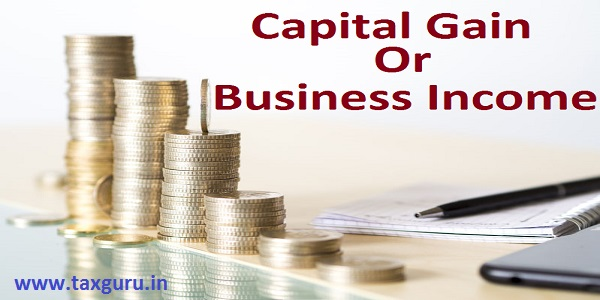 Capital Gain or Business Income