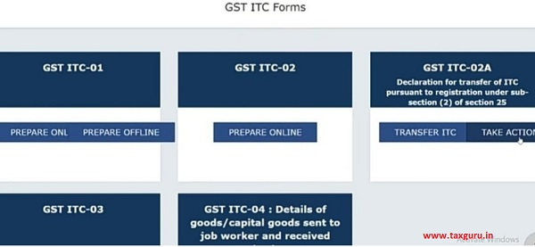 GST ITC Forms
