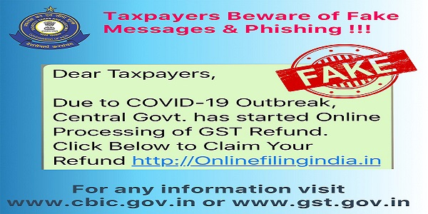 GST Refund SCAM Advisory