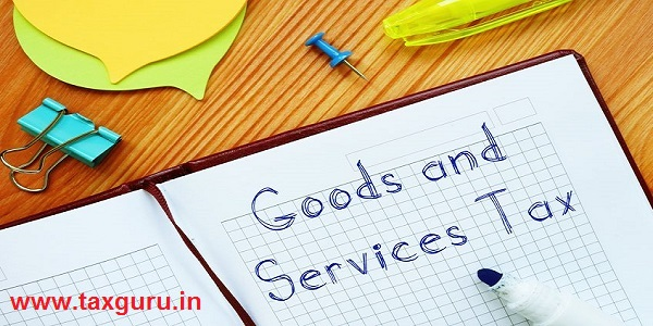 Goods and Services Tax GST sign on the page.