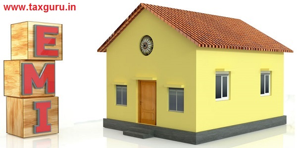 Home loan EMI concept isolated on white background