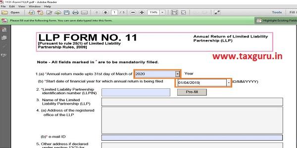 LLP Form No. 11