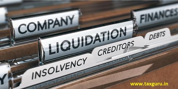 Liquidation insolvency