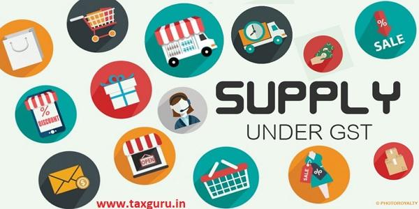 Supply Under GST