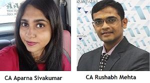CA Aparna Sivakumar and CA Rushabh Mehta