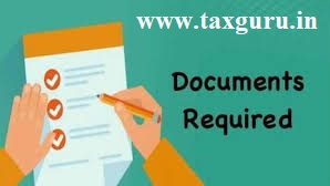 Documents required for filing Income Tax Return