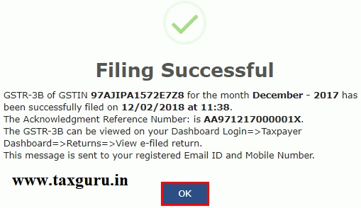 Filing Nil Form GSTR-3B through Online 11