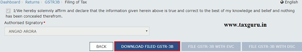 Filing Nil Form GSTR-3B through Online 12