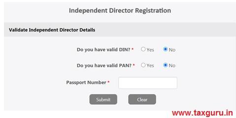 Independent Director Registration