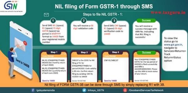 NIL-filing-of-GSTR-1 through SMS