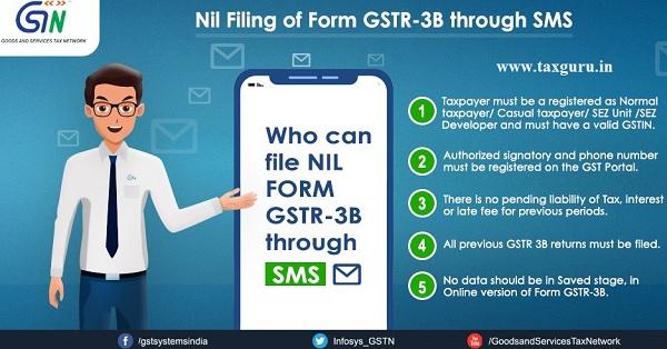 Nil Filing of Form GSTR -3B through SMS (2)