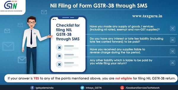 Nil Filing of Form GSTR -3B through SMS (3)