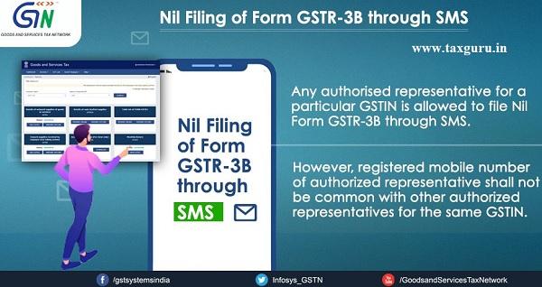 Nil Filing of Form GSTR -3B through SMS (6)