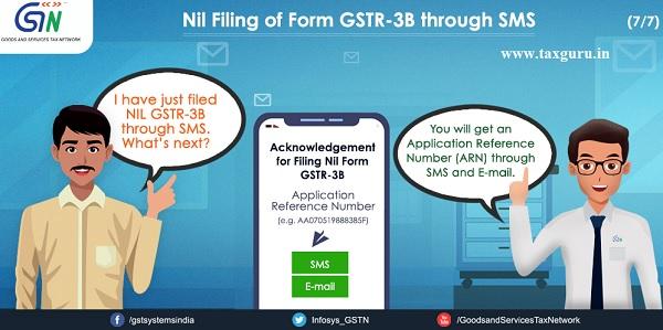 Nil Filing of Form GSTR -3B through SMS (7)