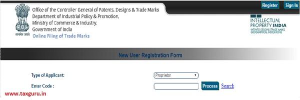 Online Filing of Trade Mark Version 3.0 images 2