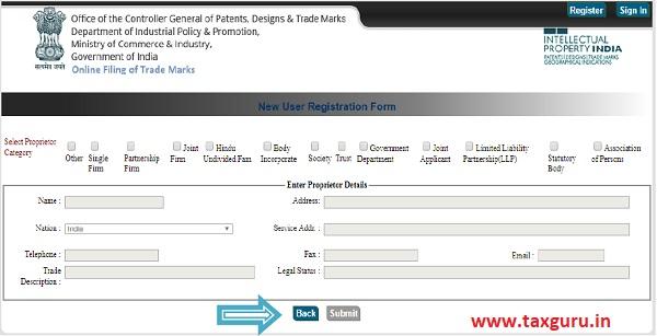 Online Filing of Trade Mark Version 3.0 images 3
