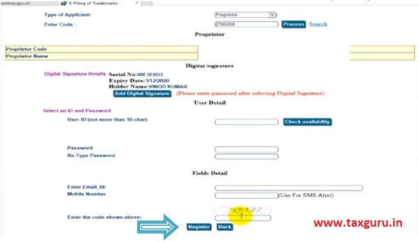 Online Filing of Trade Mark Version 3.0 images 5