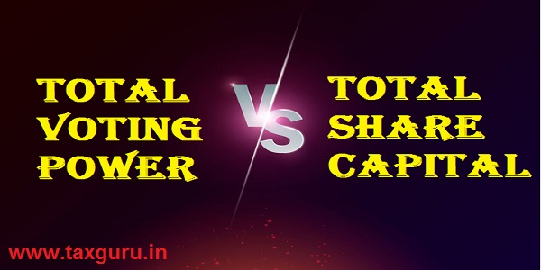 Total Voting Power V/s Total Share Capital
