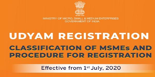 UDYAM REGISTRATION- Effective from 1st July 2020