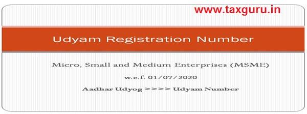 Udyam Registration Number