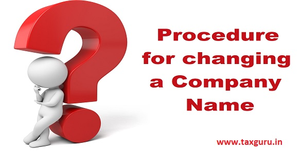 procedure for changing a company name