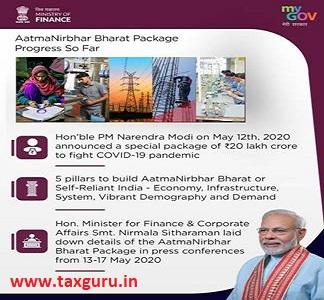 Aatma nirbhar Bharat package progress so Far