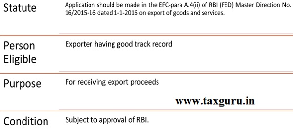 Account By Project Exporter Or Service Exporter In And Outside India