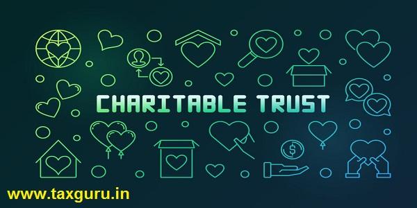 Charitable trust vector colored line horizontal illustration