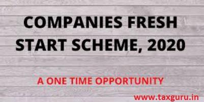 Companies fresh start schemes, 2020