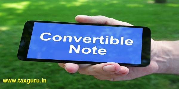 Convertible Note is shown on the conceptual business photo