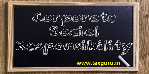 Corporate Social Responsibility CSR - New chalkboard with outlined text