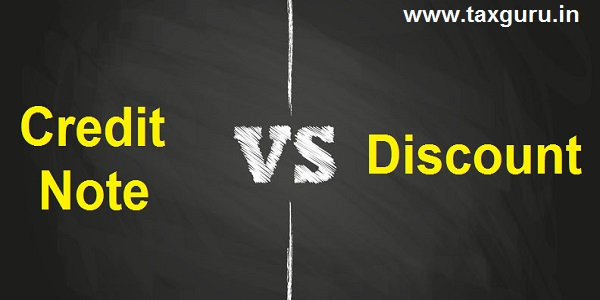 Credit Note Vs Discount