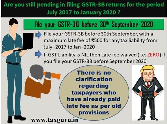 File your GSTR-3B before 30th September 2020