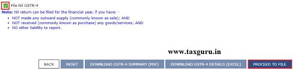 Filing Form GSTR-4 (Annual Return) (For FY 2019-20 Onwards) Image 6