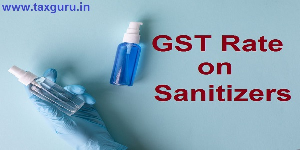GST Rate on Sanitizers