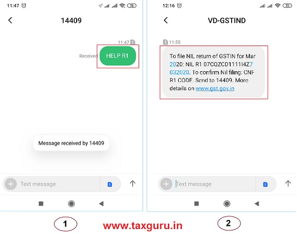 Help SMS Format