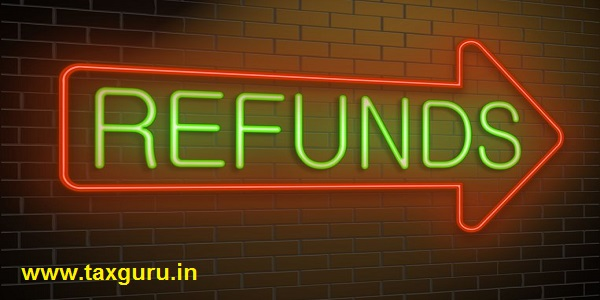 Illustration depicting an illuminated neon sign with a refund concept