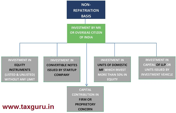 Investment on non-repatriation basis