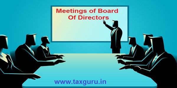 Meetings of Board Of Directors