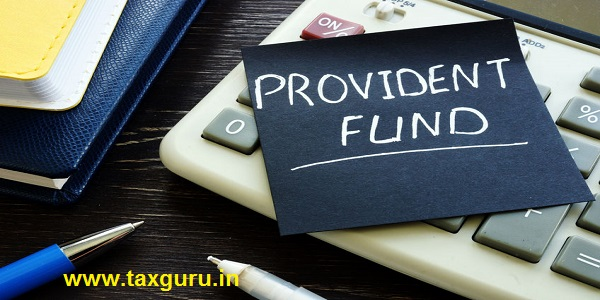Provident fund memo stick sign on the calculator